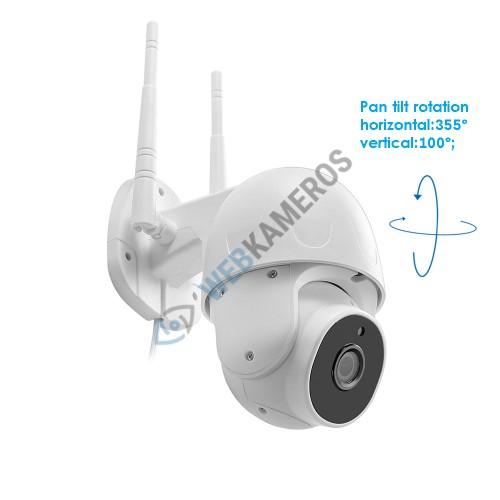Automatiškai sukinėjama lauko WIFI kamera