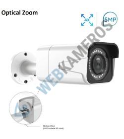 IP kamera PoE 5MP RL51 su optiniu objektyvu Micro sd