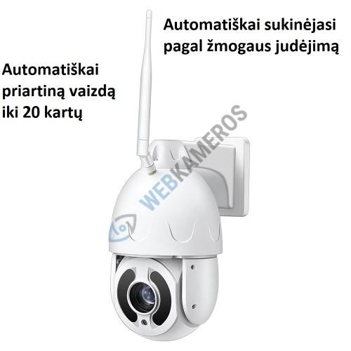Kamera su SIM kortele automatiškai sukinėjama su optika CAT 5MP