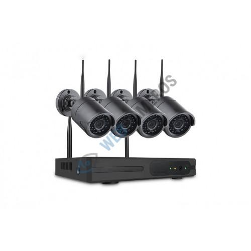 Keturios belaidės kameros su WIFI įrašinėjančiu imtuvu NVR