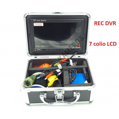 Povandeninė kamera komplektas 7 colio LCD su įrašymo funkcija