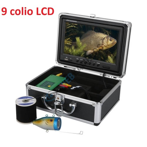 Povandeninė kamera žvejybai komplektas su 9 colio LCD
