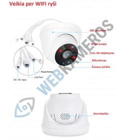 Vidaus WIFI kamera ANR FULL HD