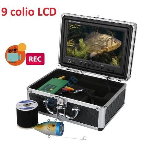 Žvejybinė povandeninė kamera komplektas 9 colio LCD su irašymu